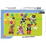 Nathan - 86116 - Puzzle Enfant avec cadre - Petit Ours Brun - 15 Pièces
