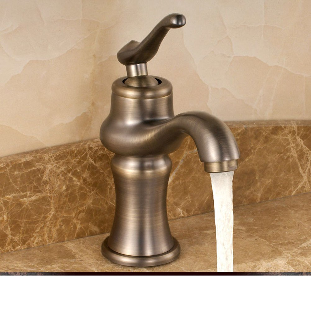 WP European Neo-Classical Faucet Copper Bathroom American Basin Basin Antique Faucet-A