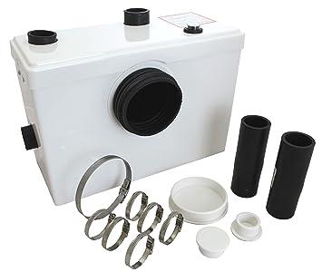 Tuecompra SL Triturador Sanitario WC 600 W - Bomba trituradora para Lavabo, baño o Cocina