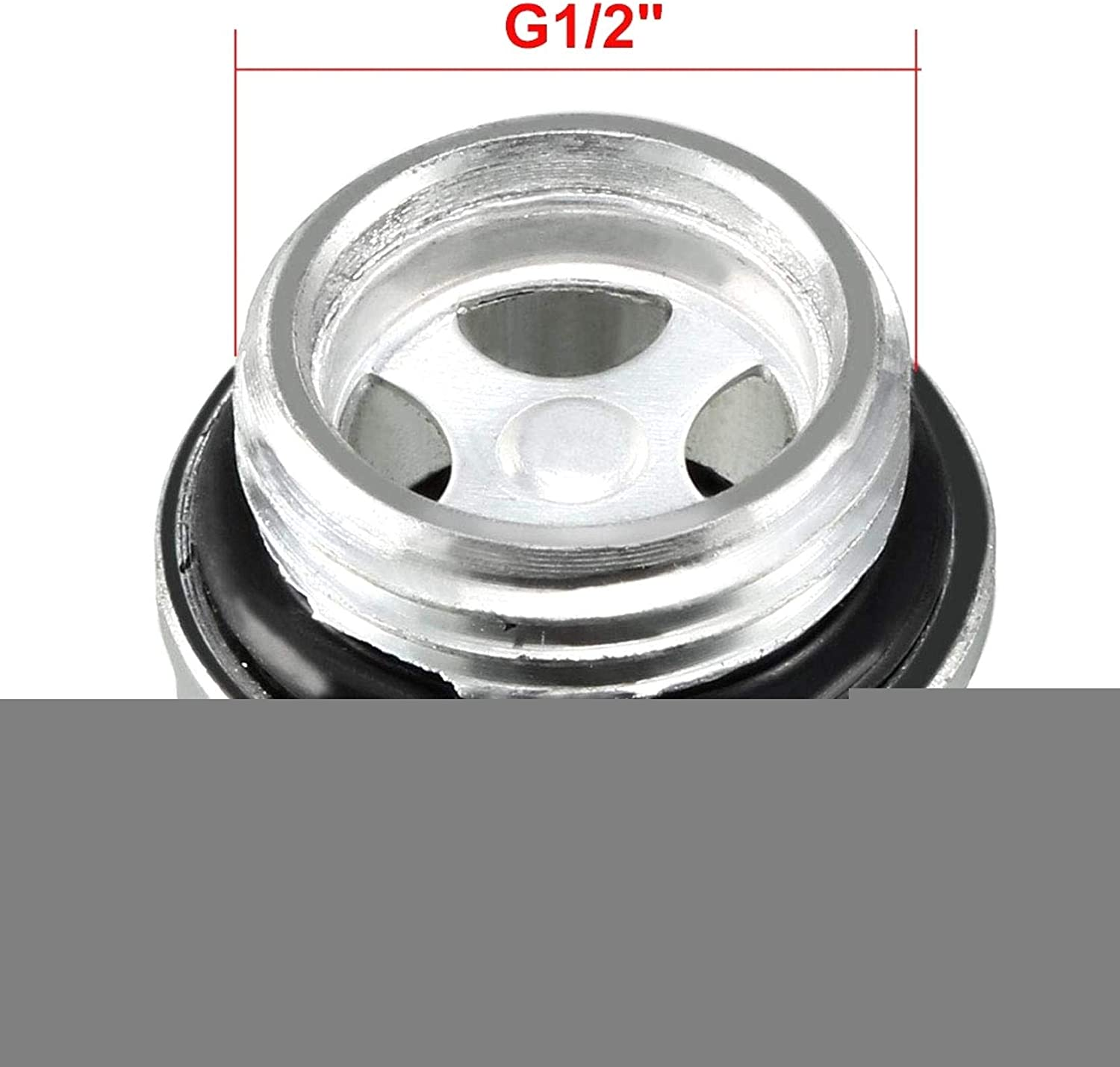 LAQI With O-Ring Air Compressor Fittings Oil Sight Glass 1//2 PT Male Threaded
