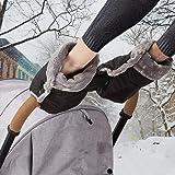 Handvärmare barnvagnshandskar handmuff med varm fleece och bomull inuti vattentät och vindtät barnvagn handmuff…