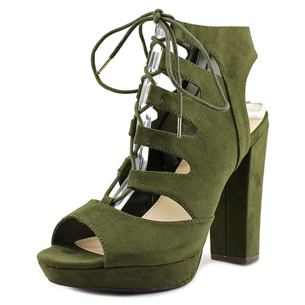Bar III Womens Nelly Fabric Open Toe Casual Platform Sandals B076HX1VSH 10 B(M) US|Olive
