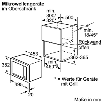 Bosch HMT75M521 - Microondas (1270 W, 453 mm, 320 mm, 280 mm ...