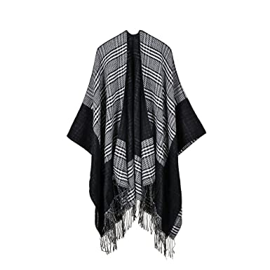 84d5c362a332c Winter Shawl-ViewHuge Lady Women's Vintage Bohemian Tassel Knit Soft Warm  Thicken Blanket Scarf Poncho Cape For Christmas Gift at Amazon Women's  Clothing ...