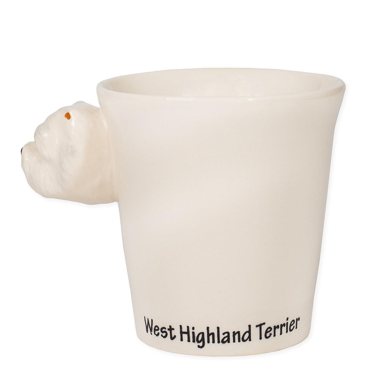 Ceramic Stoneware Hand Painted Coffee Mug Westie Terrier Dog 8 oz