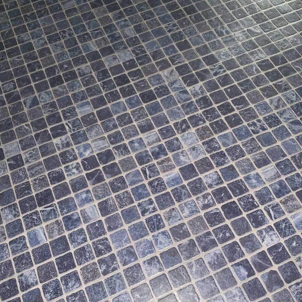 Gr/ö/ße:1.00 x 2.00 m PVC Bodenbelag Gerflor Quatro Mozaik Azur Blau 2m Mosaikdekor