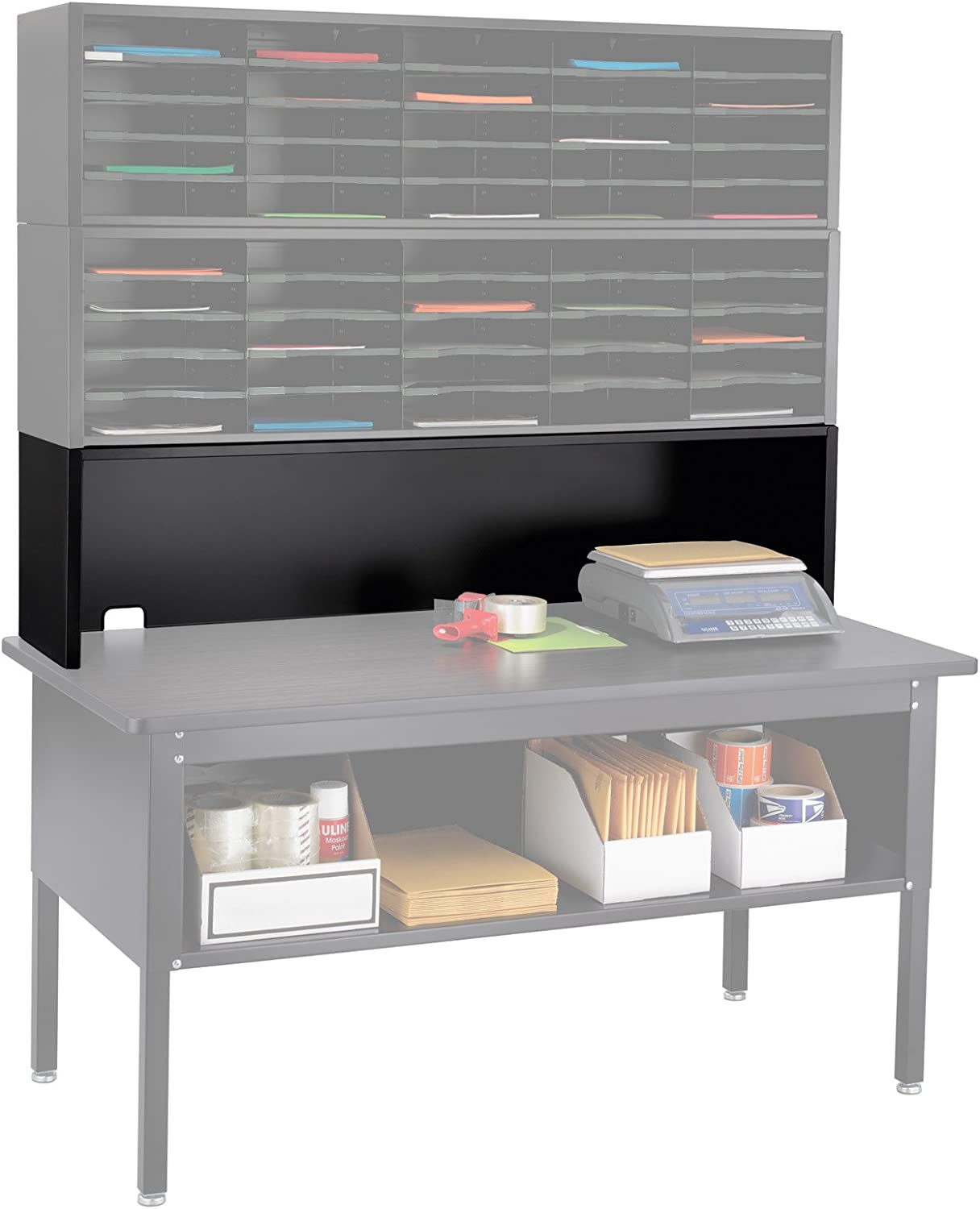 Safco Products 7752BL E-Z Sort Mail Station Riser for use with Sorting Table, sold separately, Black
