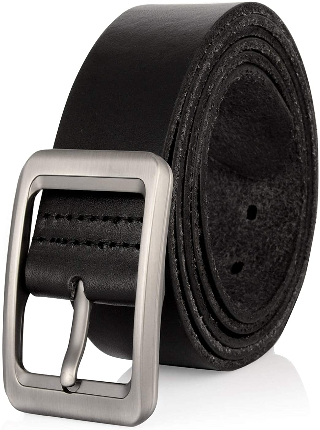 Drizzte 100% Full Grain Leather Belt, Big & Tall Size 44-66'' Mens Genuine Leather  Belts Black at Amazon Men's Clothing store