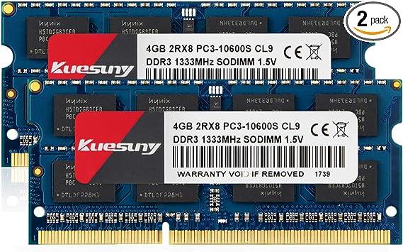 PARTS-QUICK BRAND 4GB RAM Upgrade for Toshiba Satellite P770 DDR3 PC3-10600 SODIMM Memory