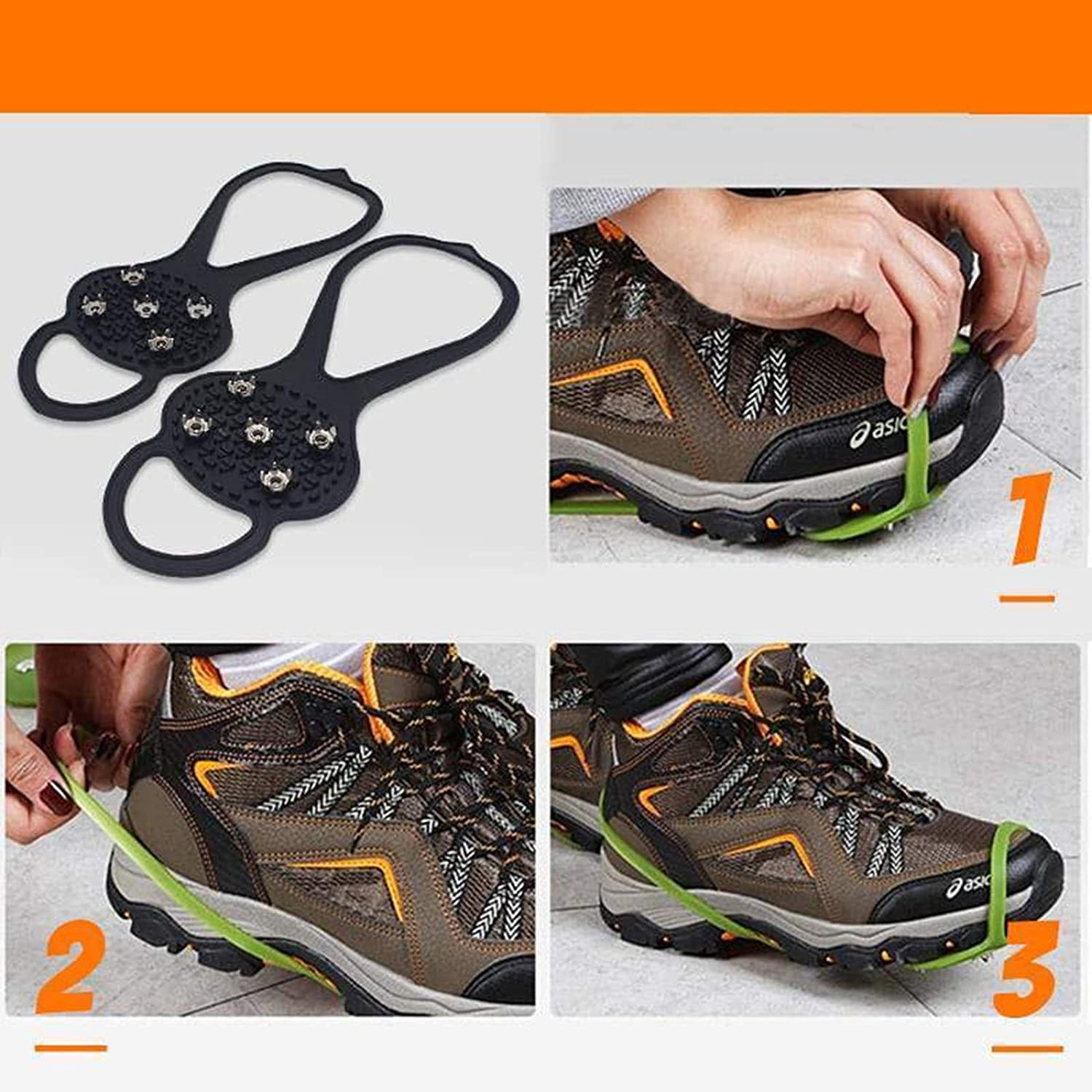 Universal Non-slip Gripper Spikes Over Shoe Durable Cleats With Good  Elasticity