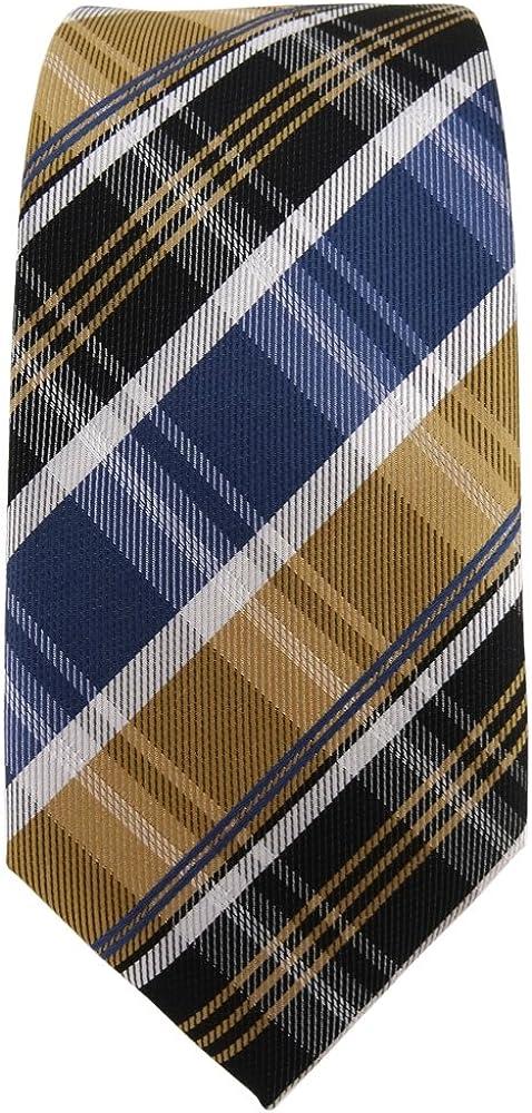 TigerTie azul oscuro rayas corbata estrecha