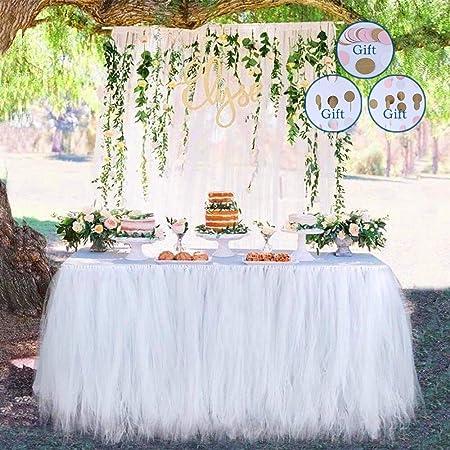 Meng Shop Decoraciones para fiestas Tutu Tulle Falda de mesa ...