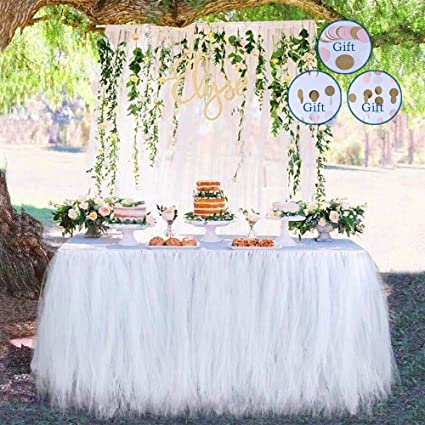 Terrific Tutu Tulle Table Skirt Queen Wonderland Tablecloth Skirt Suitable Personalised Birthday Cards Paralily Jamesorg