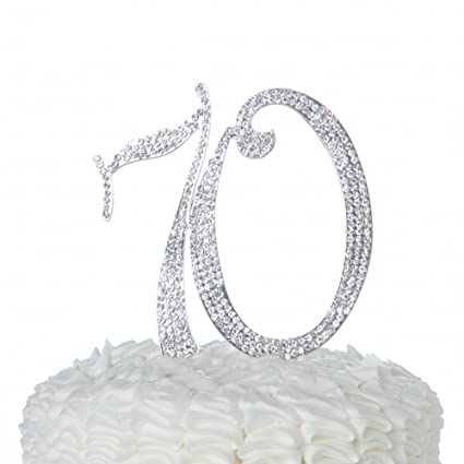 Image Unavailable Not Available For Color Ella Celebration 70 Cake Topper 70th Birthday