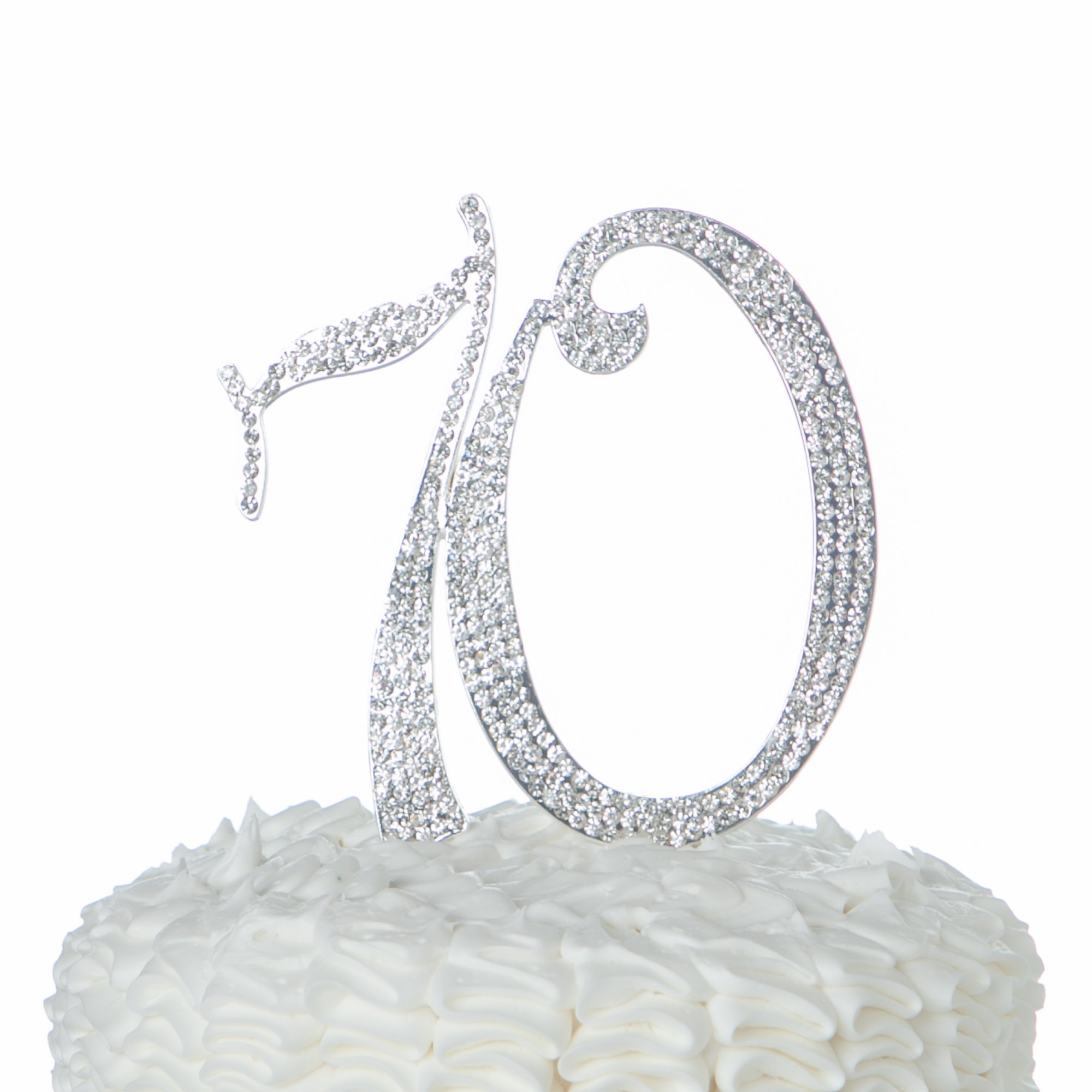 NEW Large Rhinestone NUMBER 70 Cake Topper 70th Birthday Party Anniversary