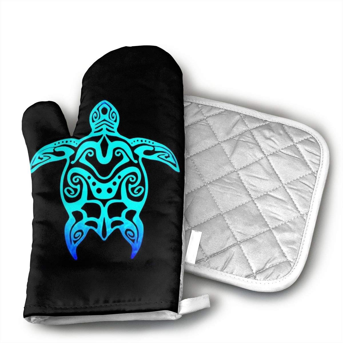MKDIG Sea Turtle Oven Mitts and Pads for Safe handling of hot cookware