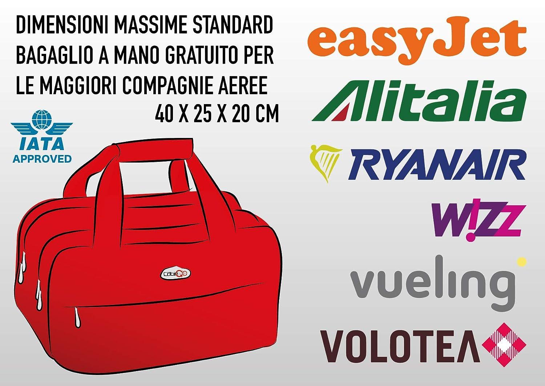 CABIN GO Max 5548 Maleta pequeña - Equipaje de segunda mano adecuado para vuelos de Ryanair EasyJet Alitalia 40 x 20 x 20 cm - Equipaje ultraligero en ...