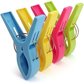 igadgitz Home U6815 Pinzas Plastico Grandes para Toallas de Playa Plástico Multiusos para Tumbona, Ropa, Edredón, etc - Paquete de 4: Amazon.es: Hogar