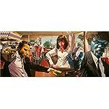 Pulp Fiction (57inch x 24inch / 142cm x 60cm) Silk Print Poster - Seide Plakat - 4AA31D