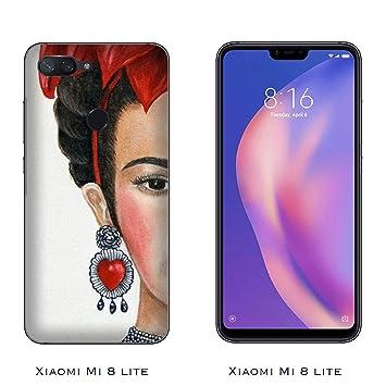 Funda Mi 8 lite Carcasa Xiaomi Mi 8 lite Frida Kahlo Media cara / Cubierta Imprimir también en los lados / Cover Antideslizante Antideslizante ...