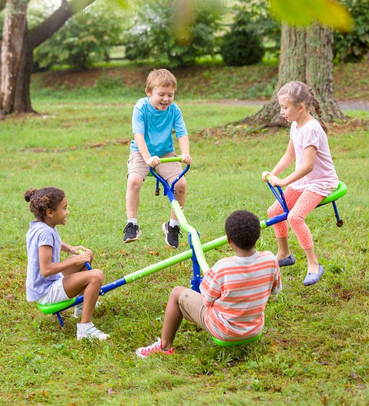 HearthSong® Quad Seat Teeter Totter - Approx 28 H x 75 Dia by HearthSong®