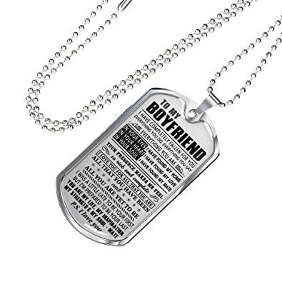 Stainless Steel Dog Tag Necklace To My Boyfriend