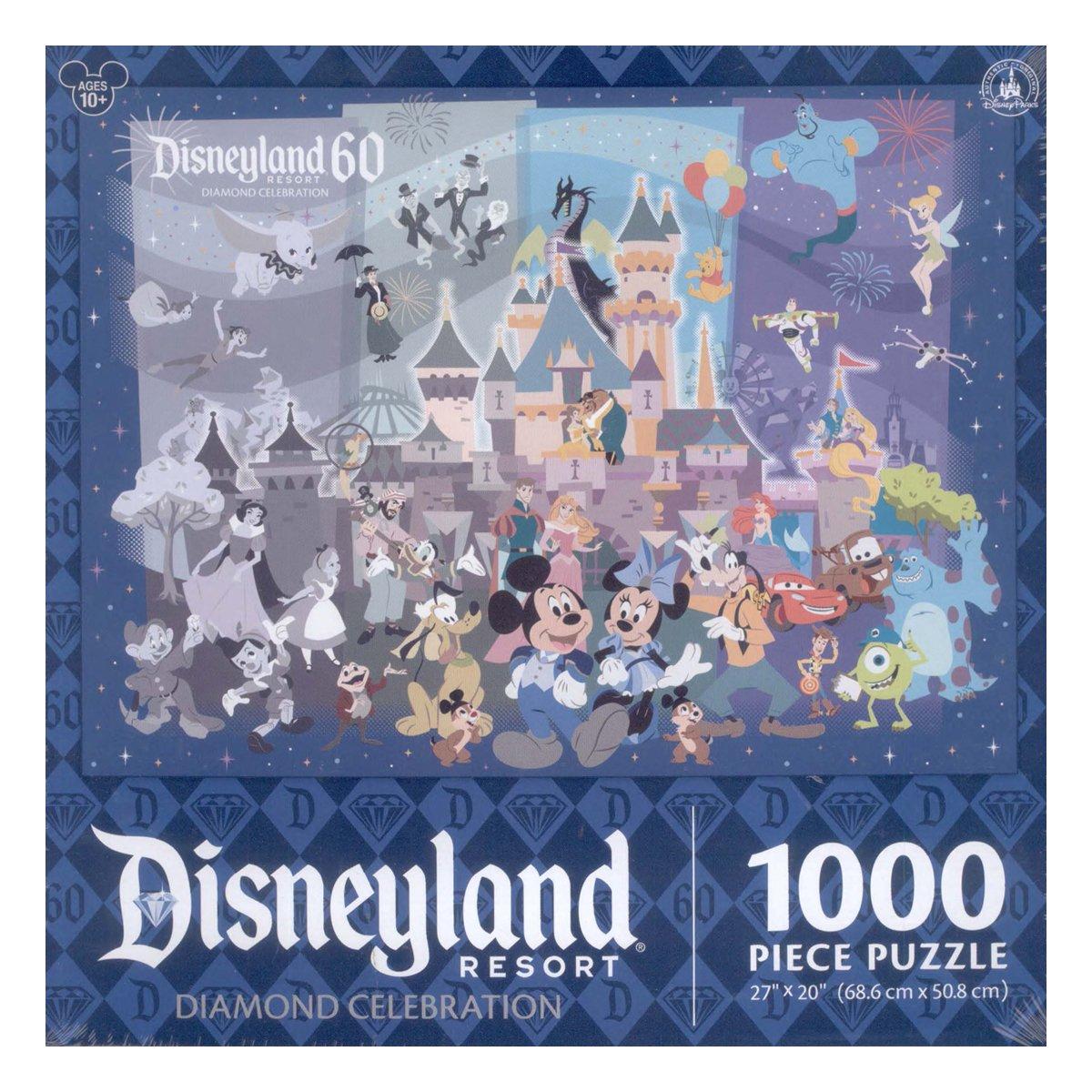 disneyland 60th diamond anniversary celebration 1000 piece jigsaw
