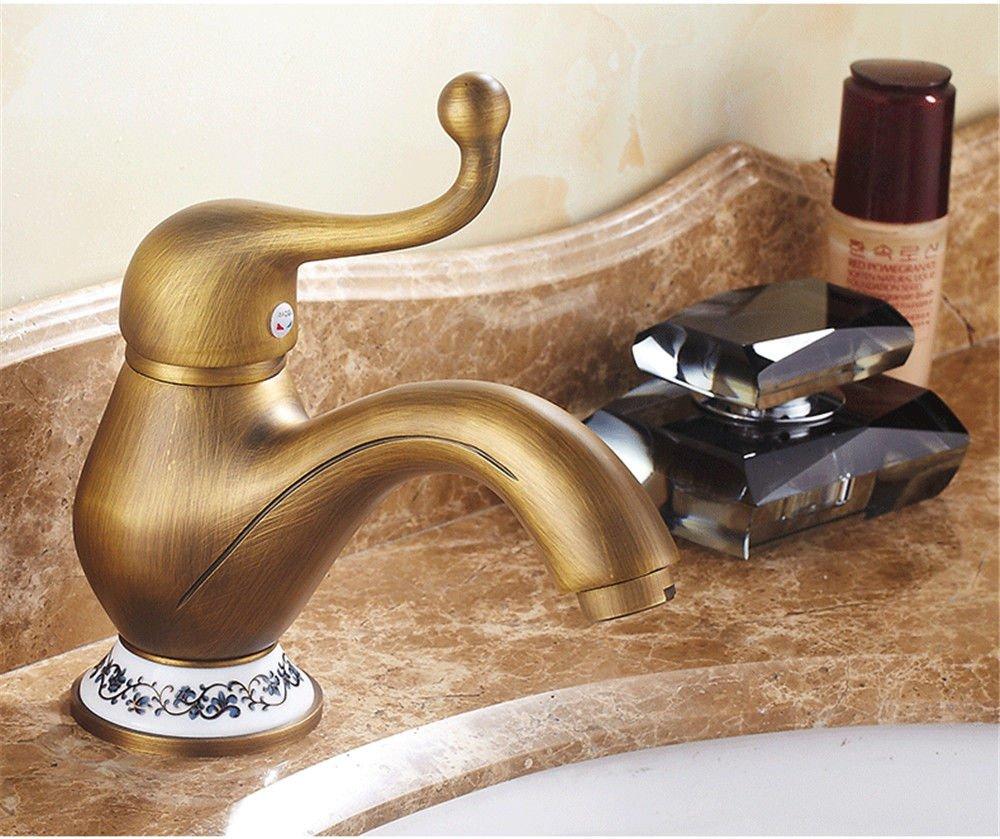 NewBorn Faucet Wasserhähne Warmes und Kaltes Wasser Guter Qualität Alle Kupfer antiken TiscHöheiße und Kalte Handwäsche