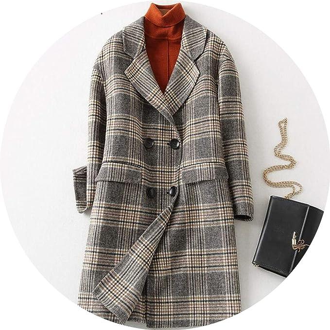 Amazon.com: Chaqueta básica para mujer, mezcla de lana para ...