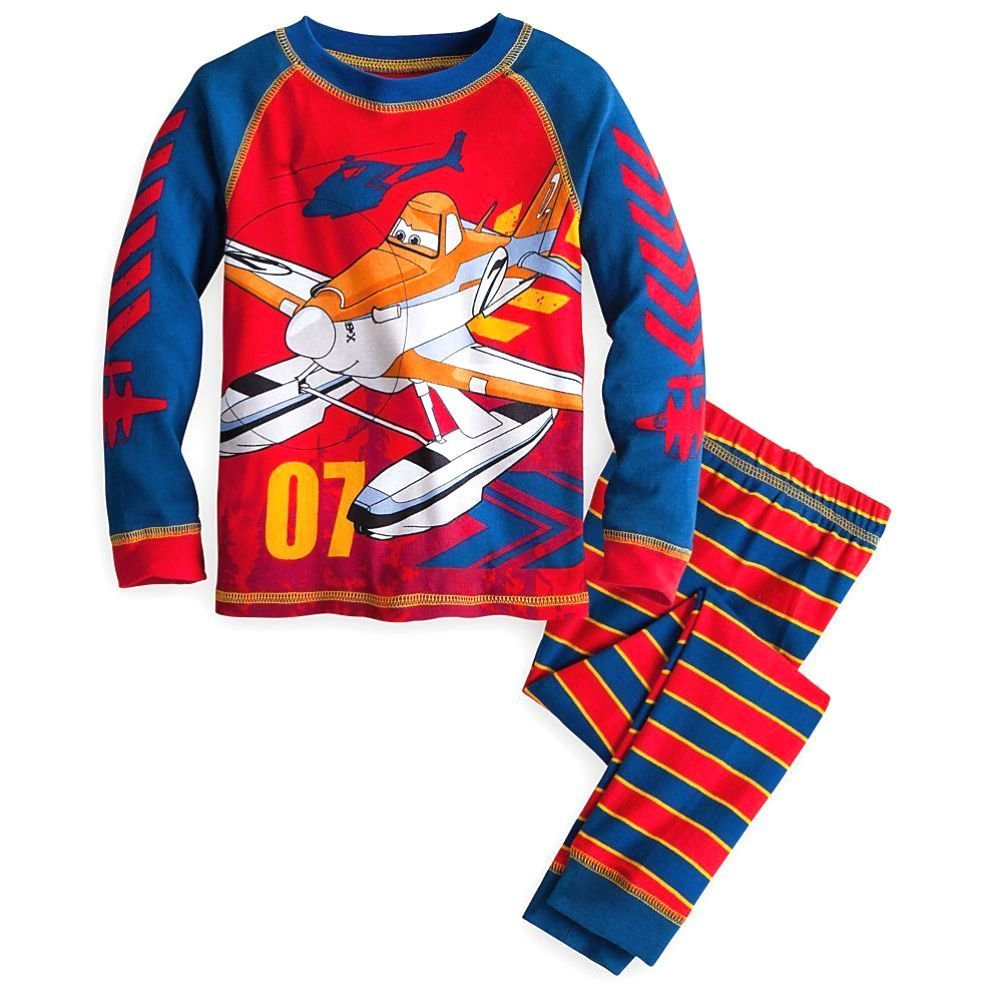 Disney Store Planes Fire /& Rescue Boy 2 PC Long Sleeve Tight Fit Pajama Set Size 6