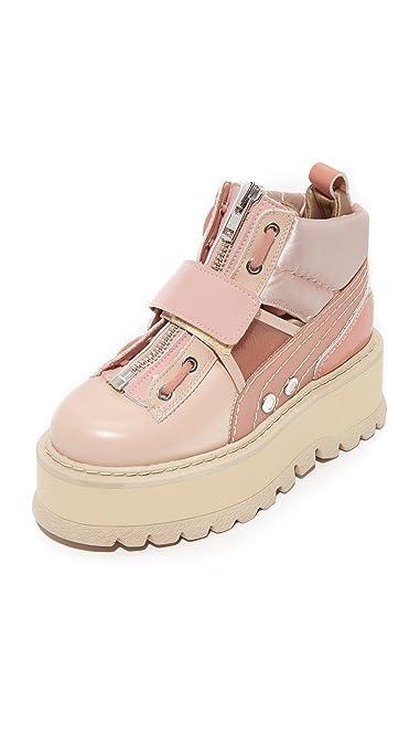b8403c7a710db Amazon.com | PUMA Women's Fenty x Strap Sneaker Booties, Silver/Pink ...