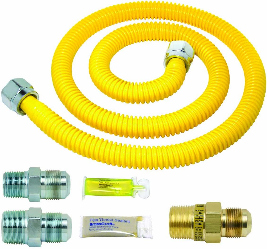 BrassCraft PSC1083 K5 Safety Plus Gas Installation Kit for Range Furnace and Boiler