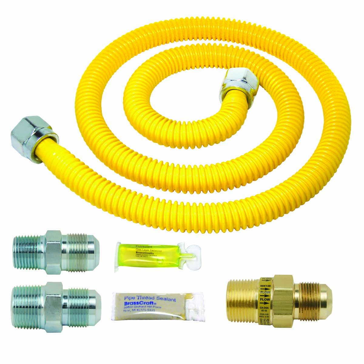 BrassCraft PSC1083 K5 Safety Plus Gas Installation Kit for Range Furnace and Boiler