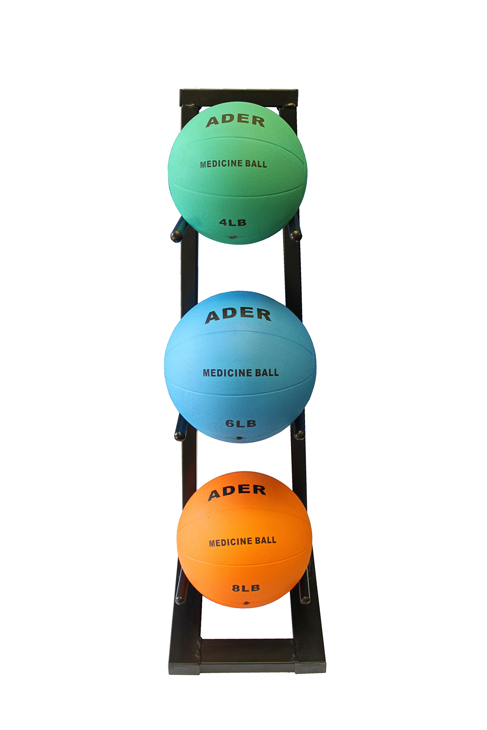 Ader Medicine Ball Set w/Rack (Rack + 8-12-25 LB Med Balls) by Ader Sporting Goods (Image #8)