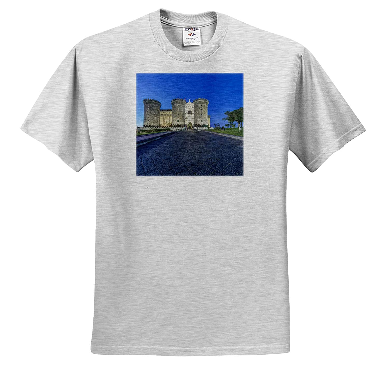 Adult T-Shirt XL Italy Castel Nuovo at Dawn Naples 3dRose Danita Delimont Naples ts/_313748 Europe