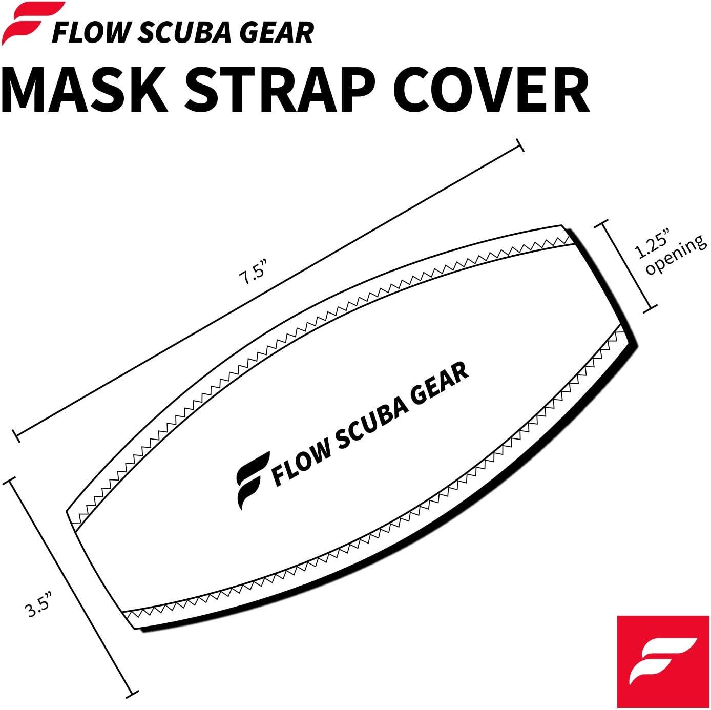 Flow Scuba Gear Diving Mask Slap Straps Neoprene Cover for Dive and Snorkel Masks