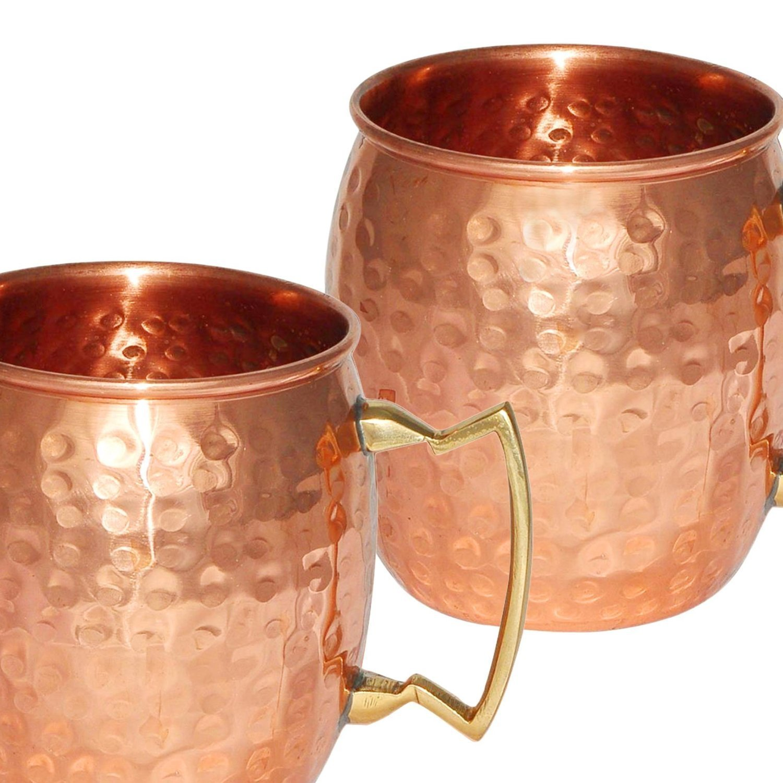 Zap Impex ® Handgemachte reine Kupfer gehämmert Moscow Mule-Becher ...
