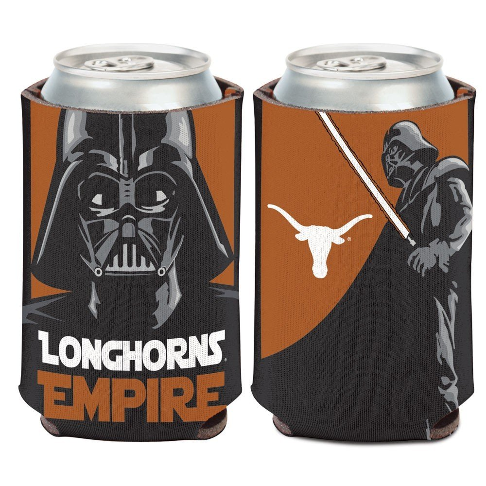 WinCraft Texas Longhorns Official NCAA 4 inch Star Wars Darth Vader Insulated Coozie Can Cooler by 157270