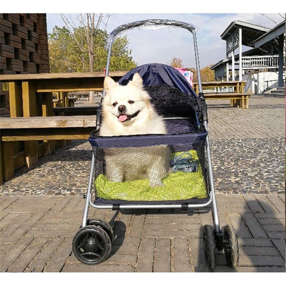 Cochecito para Perro, Carrito Carro Silla Mascota para Caminar 4 Ruedas Al Aire Libre para Perro Discapacitado Carretilla Gato Plegable De Bebe (Color ...