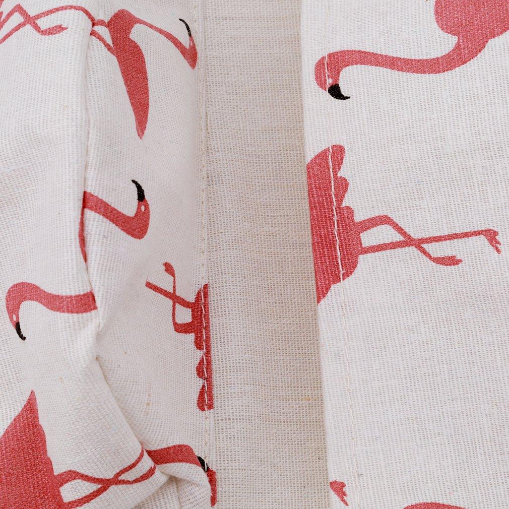 Myhouse Wall Door Hanging Storage Bag 3 Bags Flamingo Pattern Storage Organizer