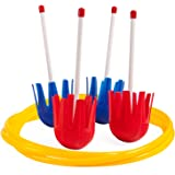 Champion Sports Lawn Darts for Kids: Classic Toss Game & Backyard Party Toy for Families - Safe Plastic Dart & Target Ring Se