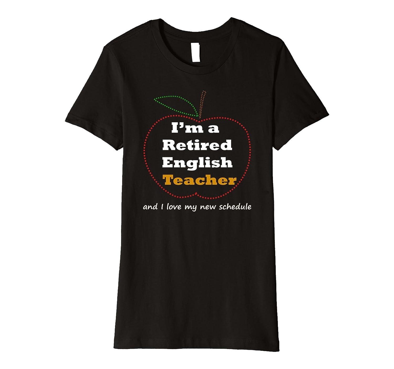 Funny English Teacher Retirement T Shirt Gift Novelty