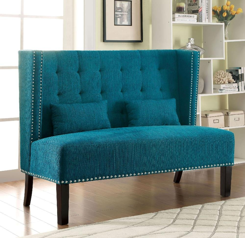 Amazon.com: Fenwick Modern 55.5 inch Long Banquette Loveseat Bench ...