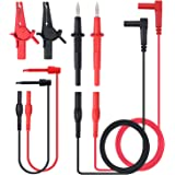 Neoteck 8-Pieces Multimeter Test Lead Kit Professional Electronic Test Lead Accessory Kit Includes Lead Extensions Test Probes Mini Hooks Alligator Clips for School Laboratory Factory and other Social Fields
