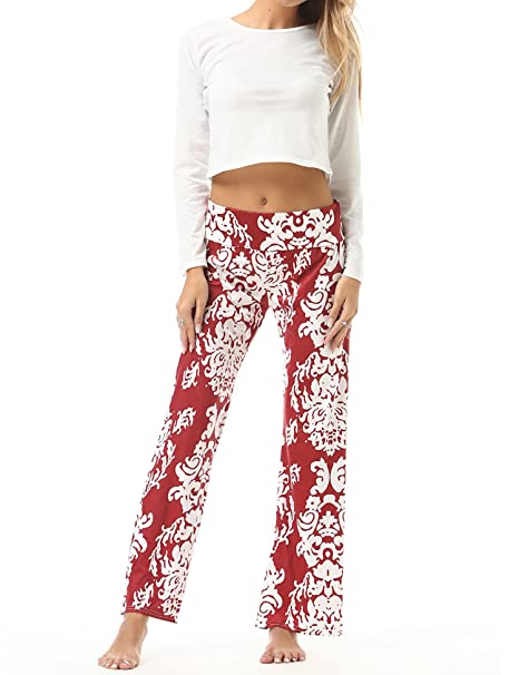 Unbranded Mujer Pantalones Anchos Casual Floral Talle Alto ...