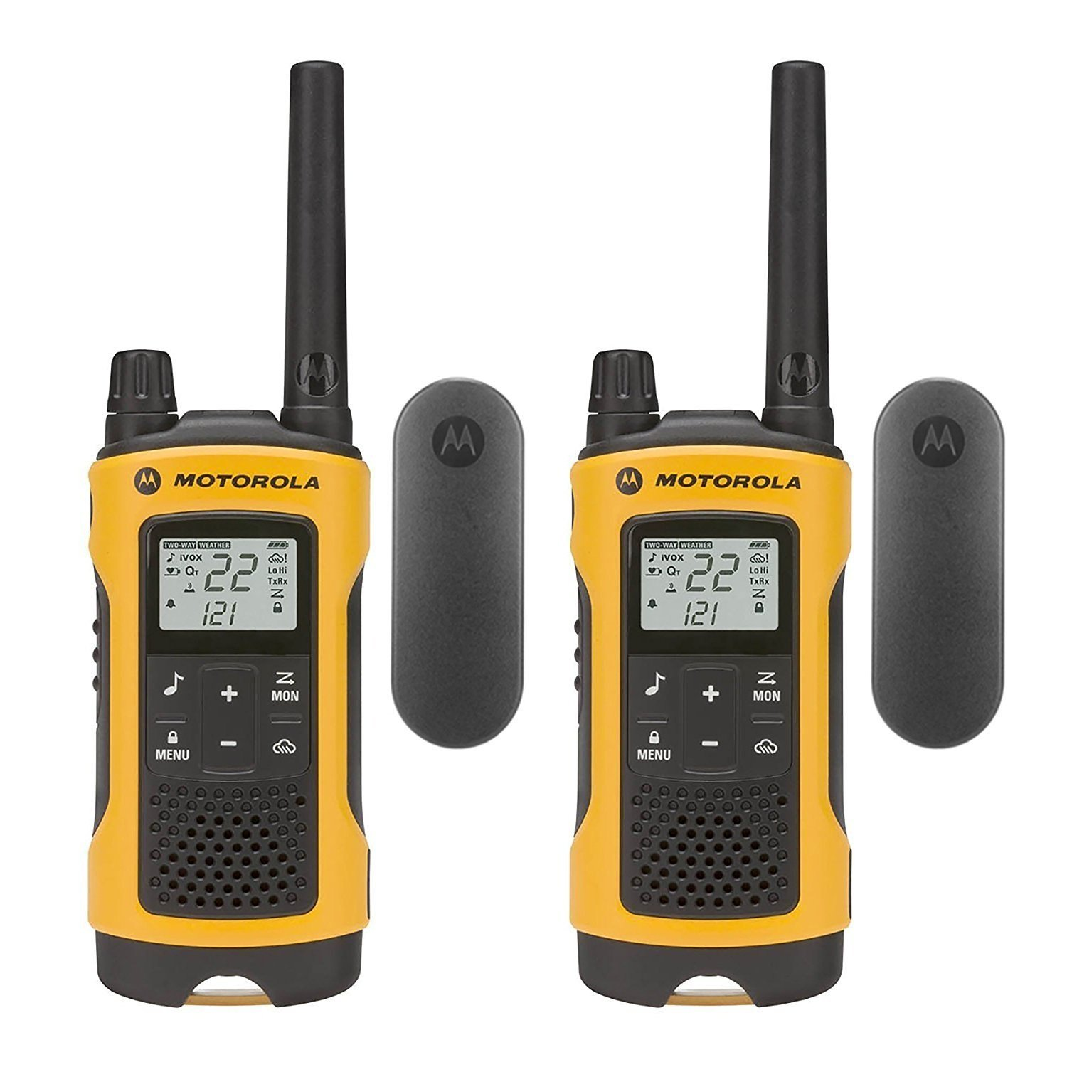 Walky Talky, Motorola T402 Set Yellow Rechargeable Wireless Radio Walkie Talkies