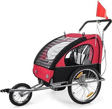 SAMAX Remolque de Bicicleta para Niños en Rojo/Negro - Silver ...