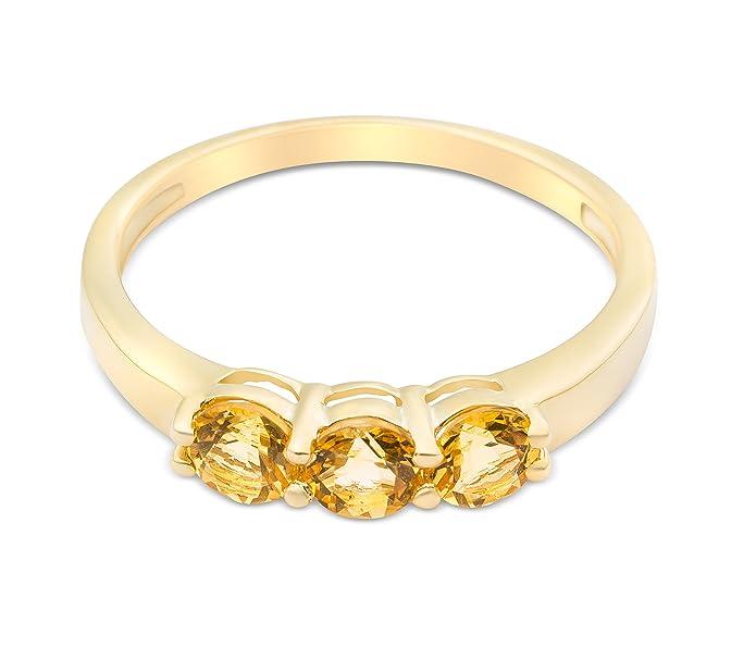 Miore Ladies 9ct Yellow Gold Peridot Eternity Ring 0EkXrfjI8U