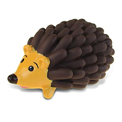 Puzzled Hedgehog Rubber Bath Toy Squirter Brown/Dark Brown Bath Buddy Fun Floater Animals Collection 3 INCH - Affordable Gift for Babies Safe for All NO Age Restrictions Bathtub/Pool Toy - Item #2784: Toys & Games