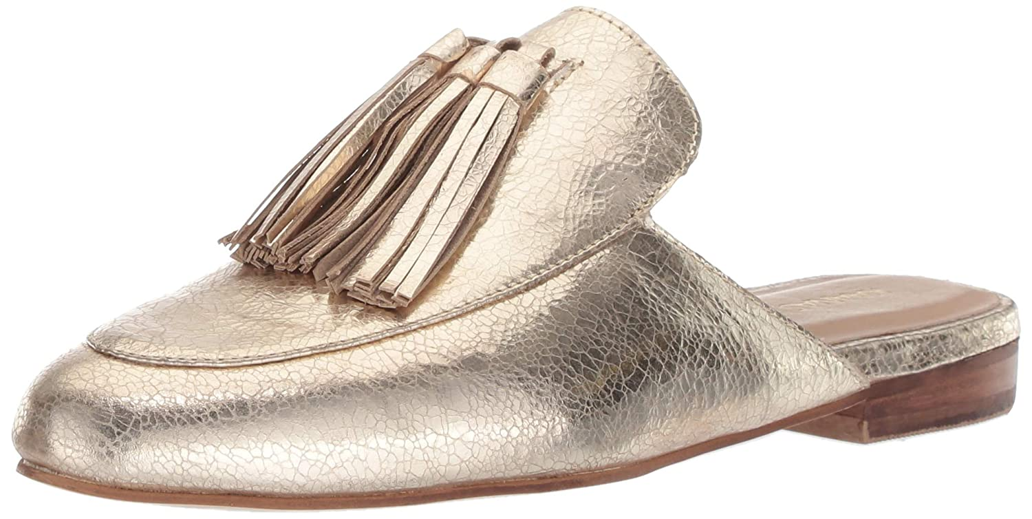 gold KAANAS Womens Kingston Tassel Flat Loafer Slide shoes Pump